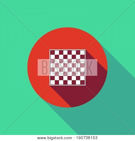 Long Shadow Do Not Enter Signal With  A Chess Board
