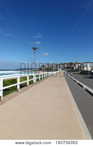 Merewether - Bathers Way is a Coastal path recently completed along Merewether Beach - Newcastle Australia. It provides walking and cycling facilities along the coastline of Newcastle.