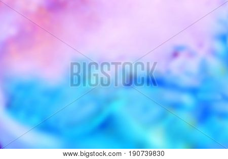 Abstract blue and pink background. Blur image of blue-pink light. Blurred Lights on blue and pink background or Lights on blue and pink background.