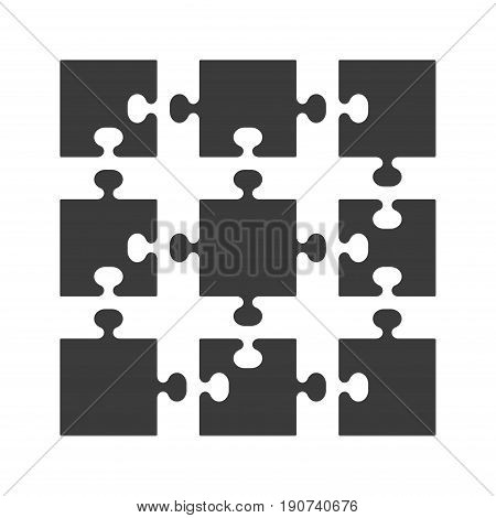 Parts of puzzles flat in white background. Jigsaw Vector illustration