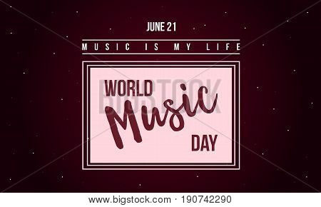 World music day celebration style banner vector art