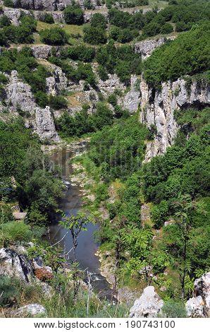 Emen canyon in Veliko Tarnovo province of Bulgaria