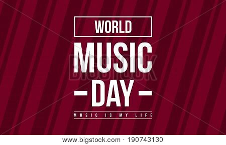 Celebration world music day collection stock vector flat