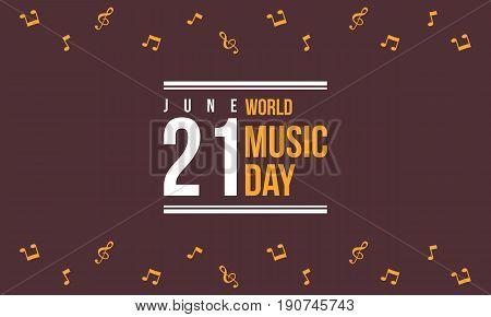 World music day celebration of background vector art