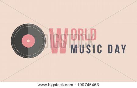 Celebration world music day illustration vector illustration