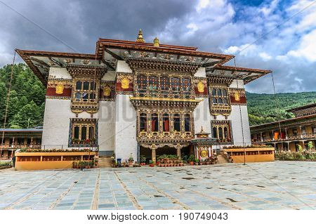 Traditional Bhutanese Temple Architecture In Bhutan.