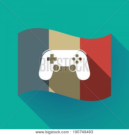 Long Shadow France Flag With  A Game Pad