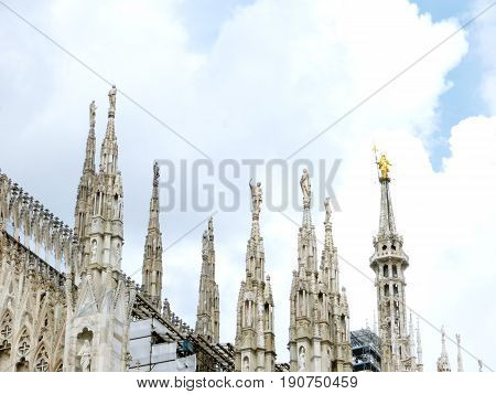 The spiers of the Duomo of Milan - Lombardy - Italy