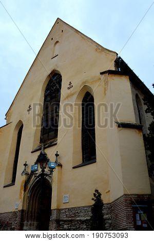 Medieval city Sighisoara. Urban landscape in the downtown of the medieval city Sighisoara, Transylvania