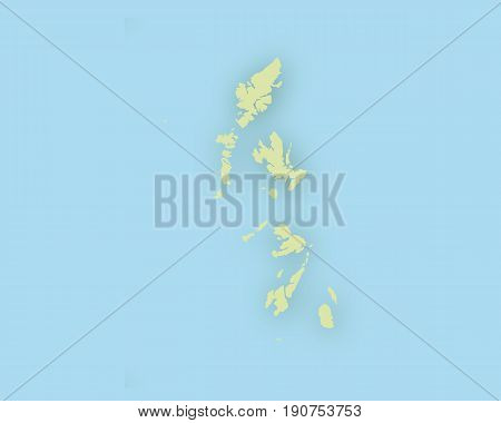Map Of The Hebrides With Shadow