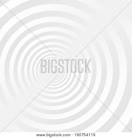 abstract gray and white concentric circles background