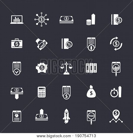 25 finance icons pack, investing, capital, shares, portfolio, funds, investment, income