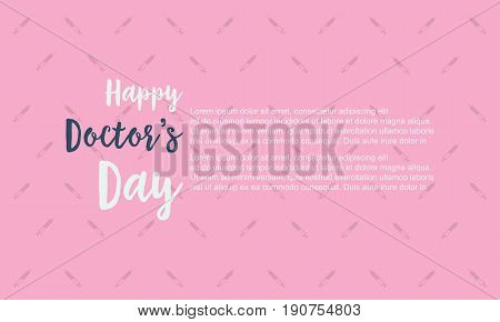 Background of doctor day vector art collection stock