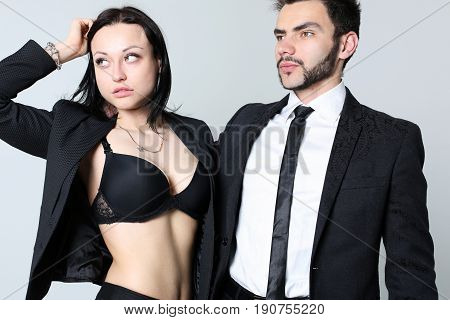 Fashion Man And Woman. The Concept For A Store Of Men's And Women's Clothing