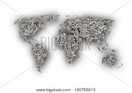 Map Of The World On Poppy Seeds