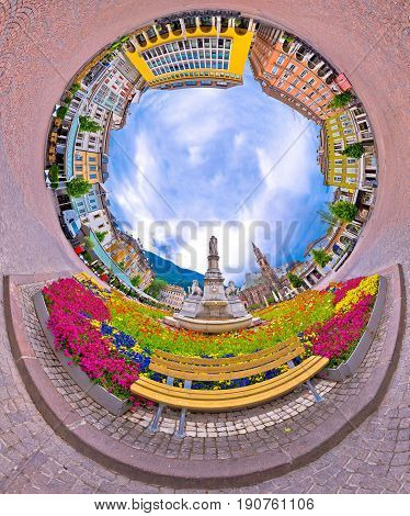 Bolzano Main Square Planet Perspective Panorama