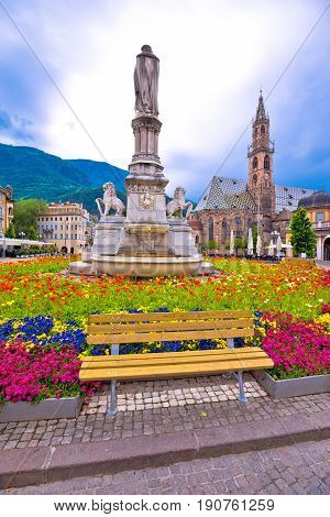 Bolzano Main Square And Cathedral View