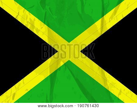 illustration of background of Jamaica flag on the occasion of Jamaica Independence day