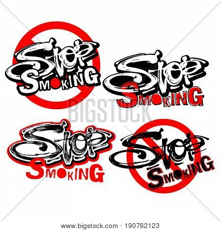 Stop Smoking Motivation Inscription Health Service Conсept.