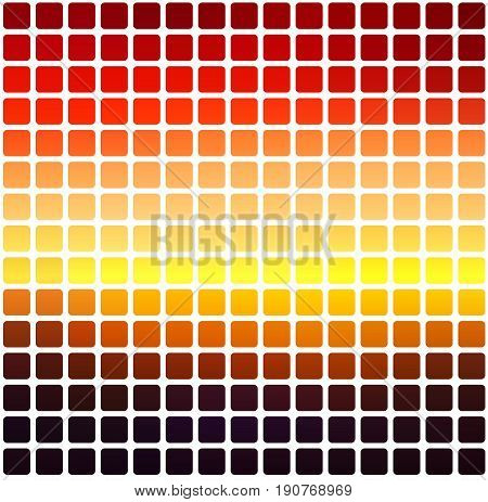 Purple orange yellow red brown vector abstract rounded corners tiles mosaic over white background square