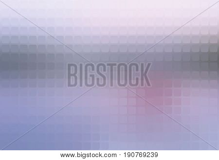 Pale pink grey blue vector abstract rounded corners square tiles mosaic over blurred background