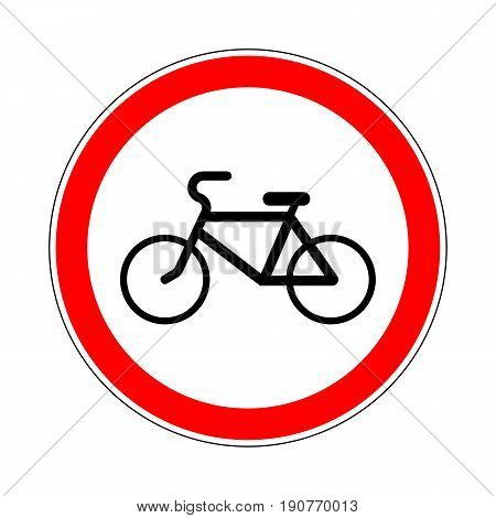 Illustration of Road Prohibitory Sign No Bicycles