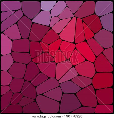 Abstract Geometrical Background Consisting Of Pink, Purple Geometric Elements Arranged On A Black Ba