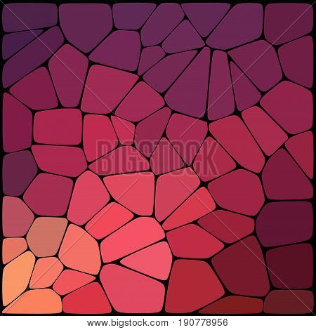 Abstract Purple Mosaic Pattern. Abstract Background Consisting Of Elements Of Different Shapes Arran