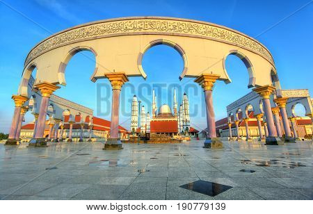 This is the great Mosque at Semarang Regency, the Capital of Central Java.