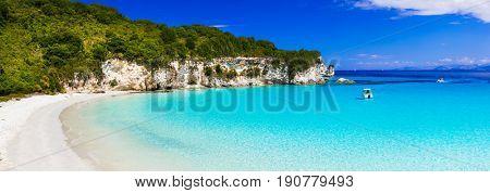 Beautiful turquoise wild beaches of Greece - Anti paxos island