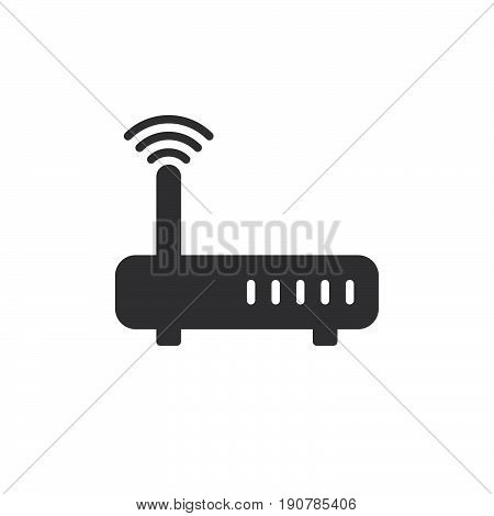 WIFI Internet router icon vector filled flat sign solid pictogram isolated on white. Symbol logo illustration. Pixel perfect