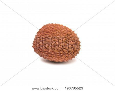 Lychees exotic fruits on a white background