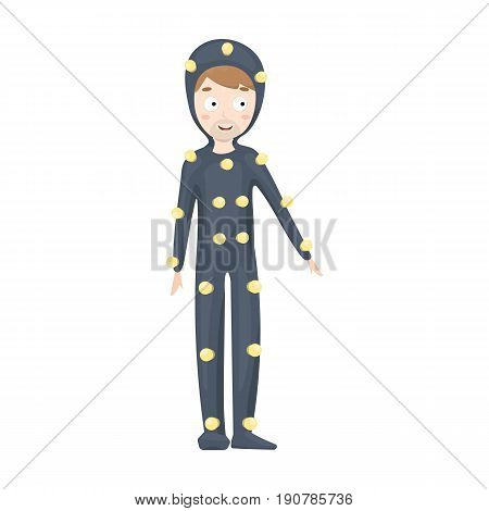 Suit with light bulbs. Making a movie single icon in cartoon  vector symbol stock illustration .