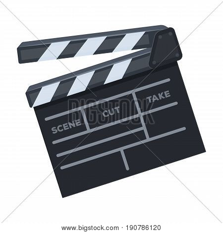 Movie cracker.Making movie single icon in cartoon  vector symbol stock illustration .