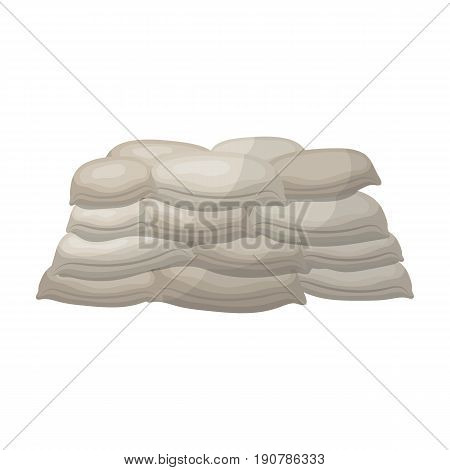 Barricade of bags of sand.Paintball single icon in cartoon  vector symbol stock illustration .