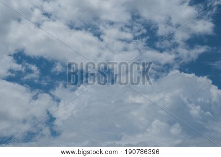 Cloud background, have a lovely day in blue sky