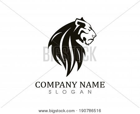 Tiger vector symbol on a white background