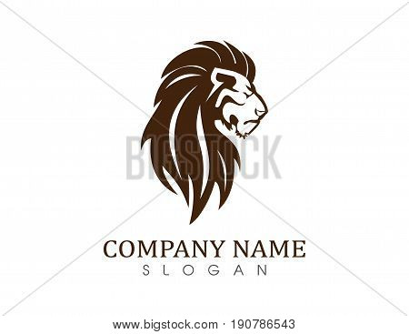 Lion vector symbol on a white background
