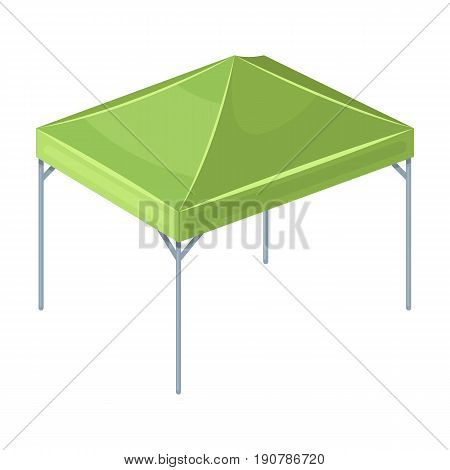 Awning for protection against sun and rain.Tent single icon in cartoon  vector symbol stock illustration .