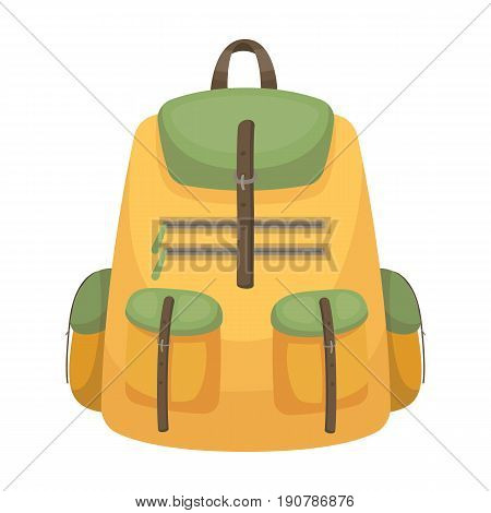 A backpack for things.Tent single icon in cartoon  vector symbol stock illustration .