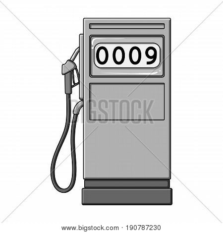 Petrol filling station.Oil single icon in monochrome  vector symbol stock illustration .