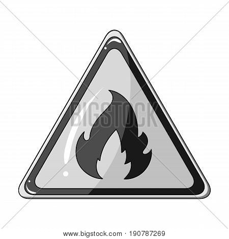 Sign of flammability.Oil single icon in monochrome  vector symbol stock illustration .