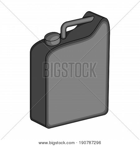 Canister for gasoline.Oil single icon in monochrome  vector symbol stock illustration .