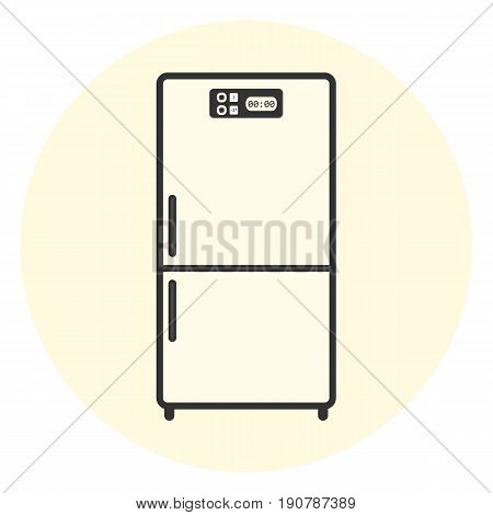 Flat White Refrigerator Icon, Appliance Symbol