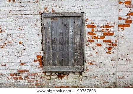 Closed Window In The Wall