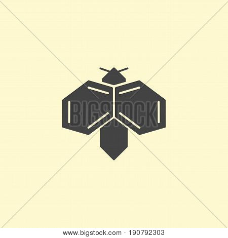 Insect logo design. Bee insect simple logotype