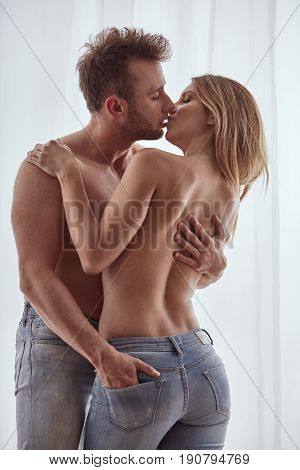 Couple During Foreplay