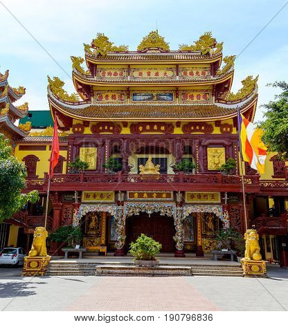 Chinese temple opened fire on Chinese New Year at night in Thailand. They are public domain or treasure of Buddhism no restrict in copy or use