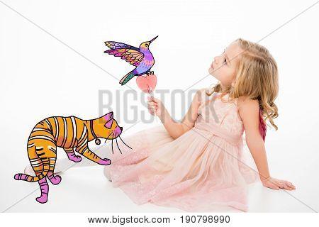 Cute Little Girl With Lollipop