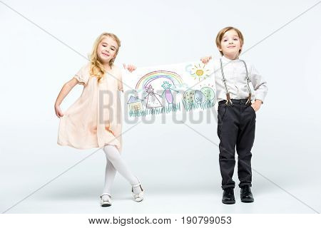 Happy Young Boy And Girl